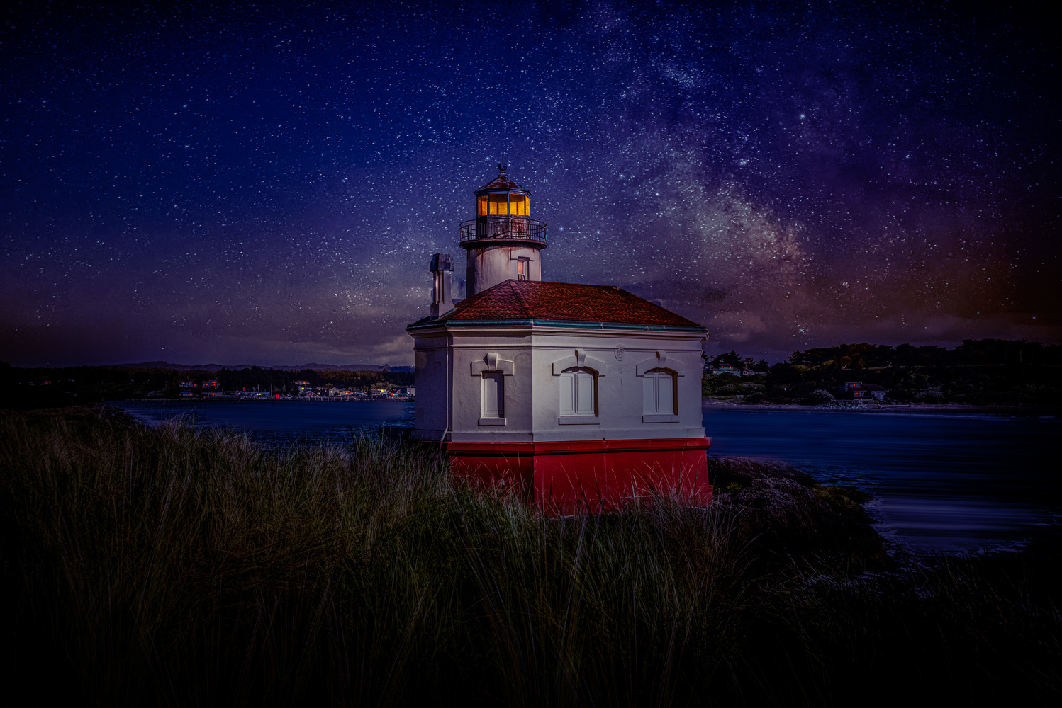 Coquille River Lighthouse by Alex Hill