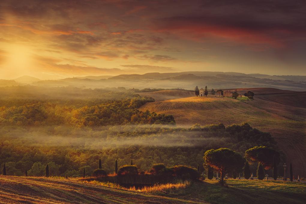 Tuscan Sunrise by Alex Hill