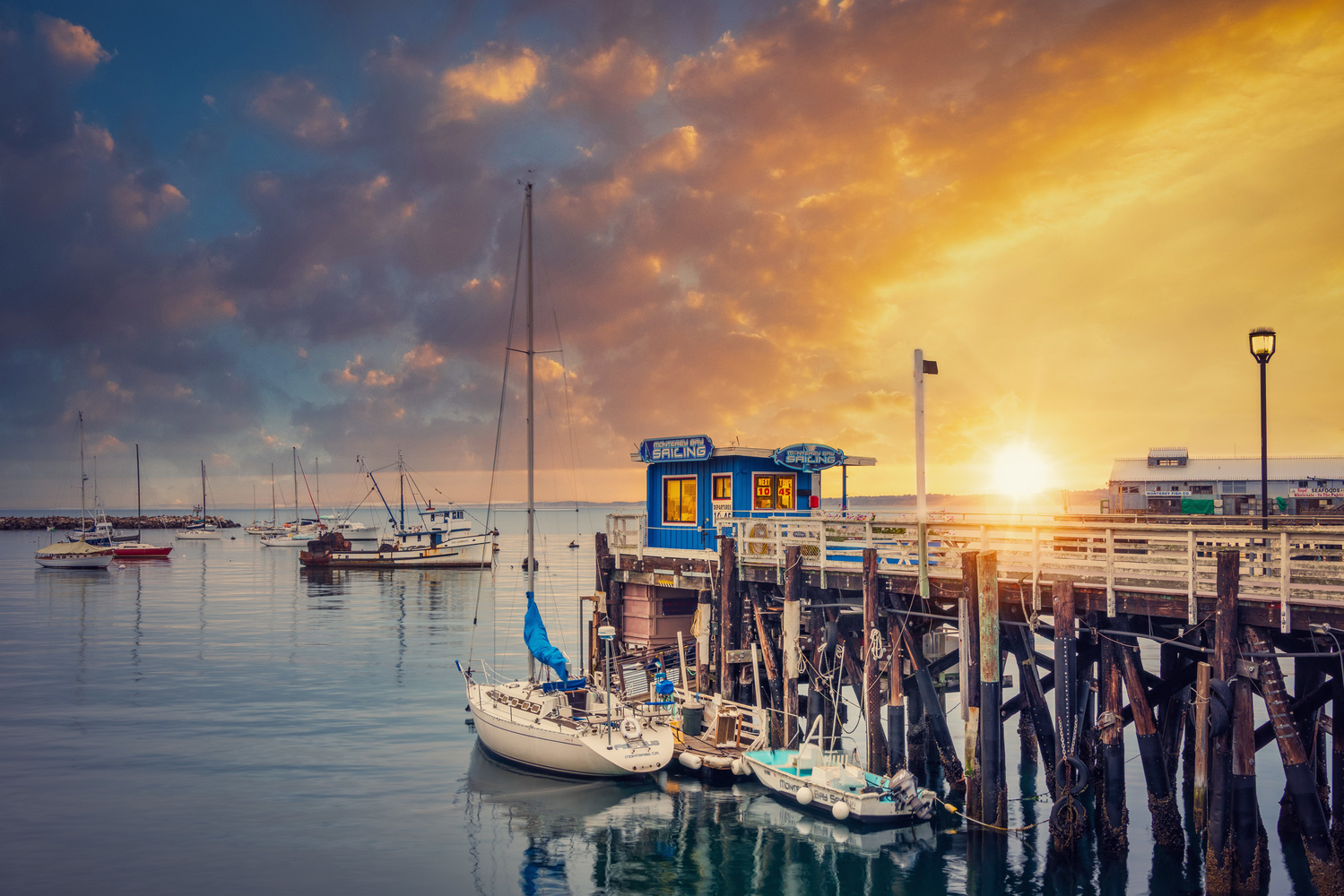Monterey Marina Sunset by Alex Hill