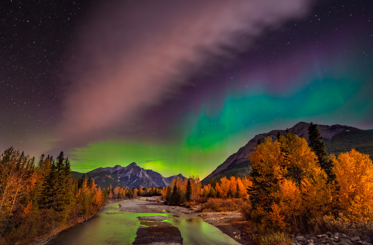 Northern Light Kananaskis by Alex Hill