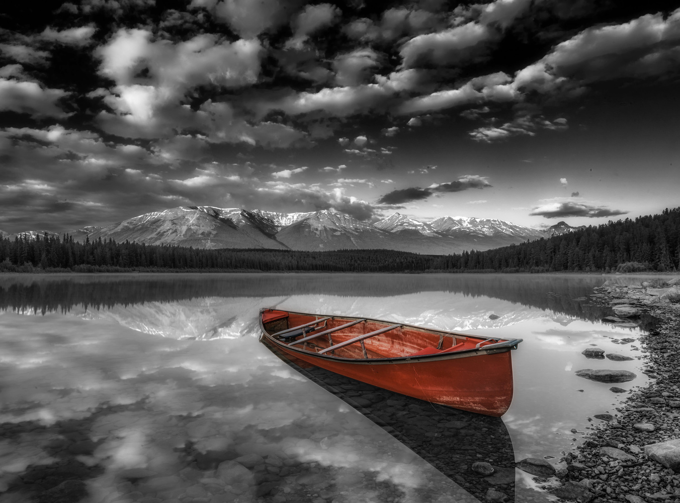 Red Canoe by Alex Hill
