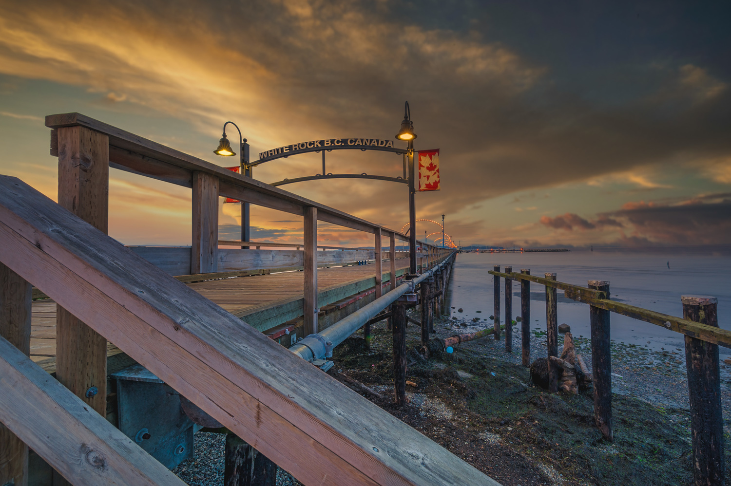 white Rock Pier by Alex Hill
