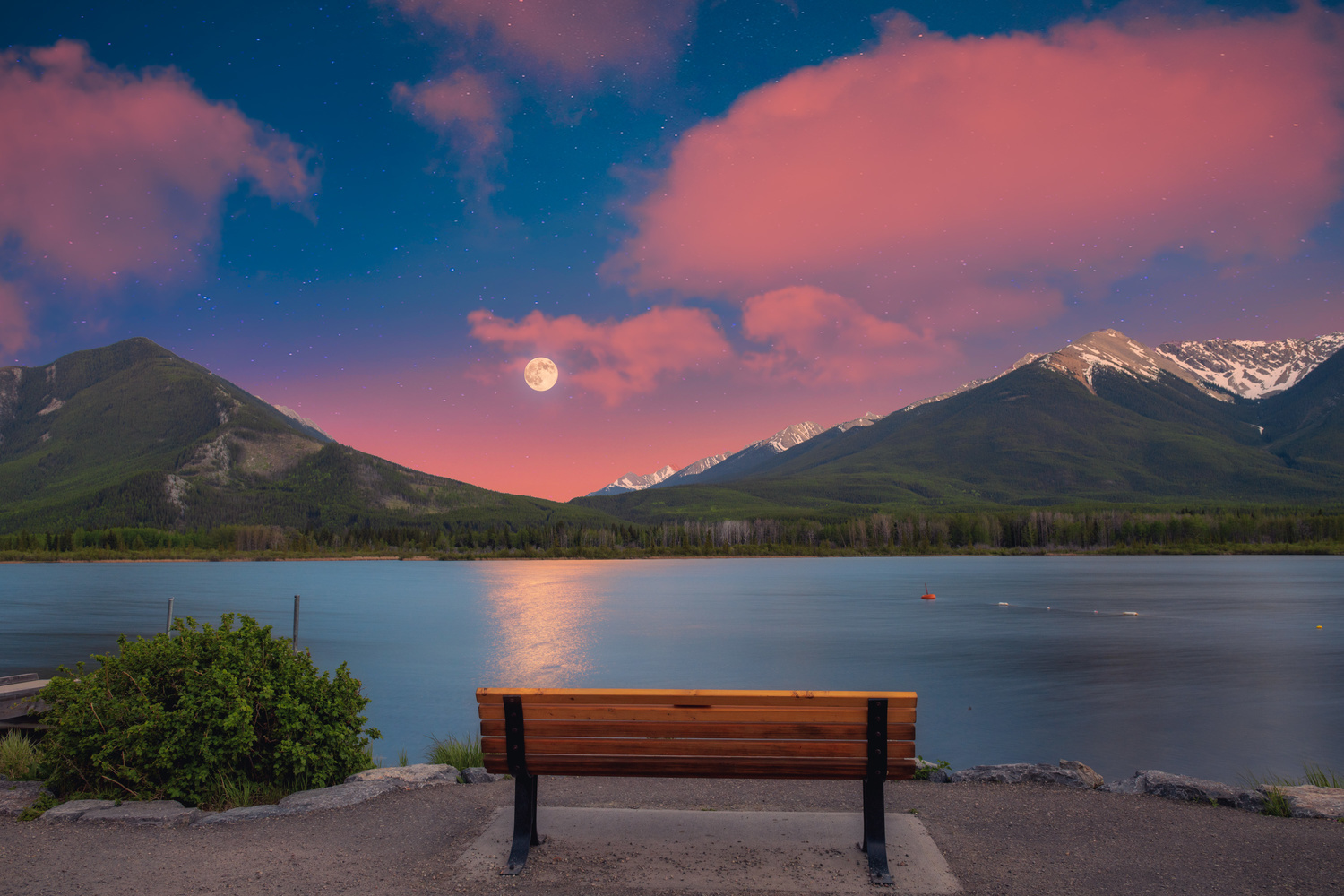 Banff Moonrise by Alex Hill