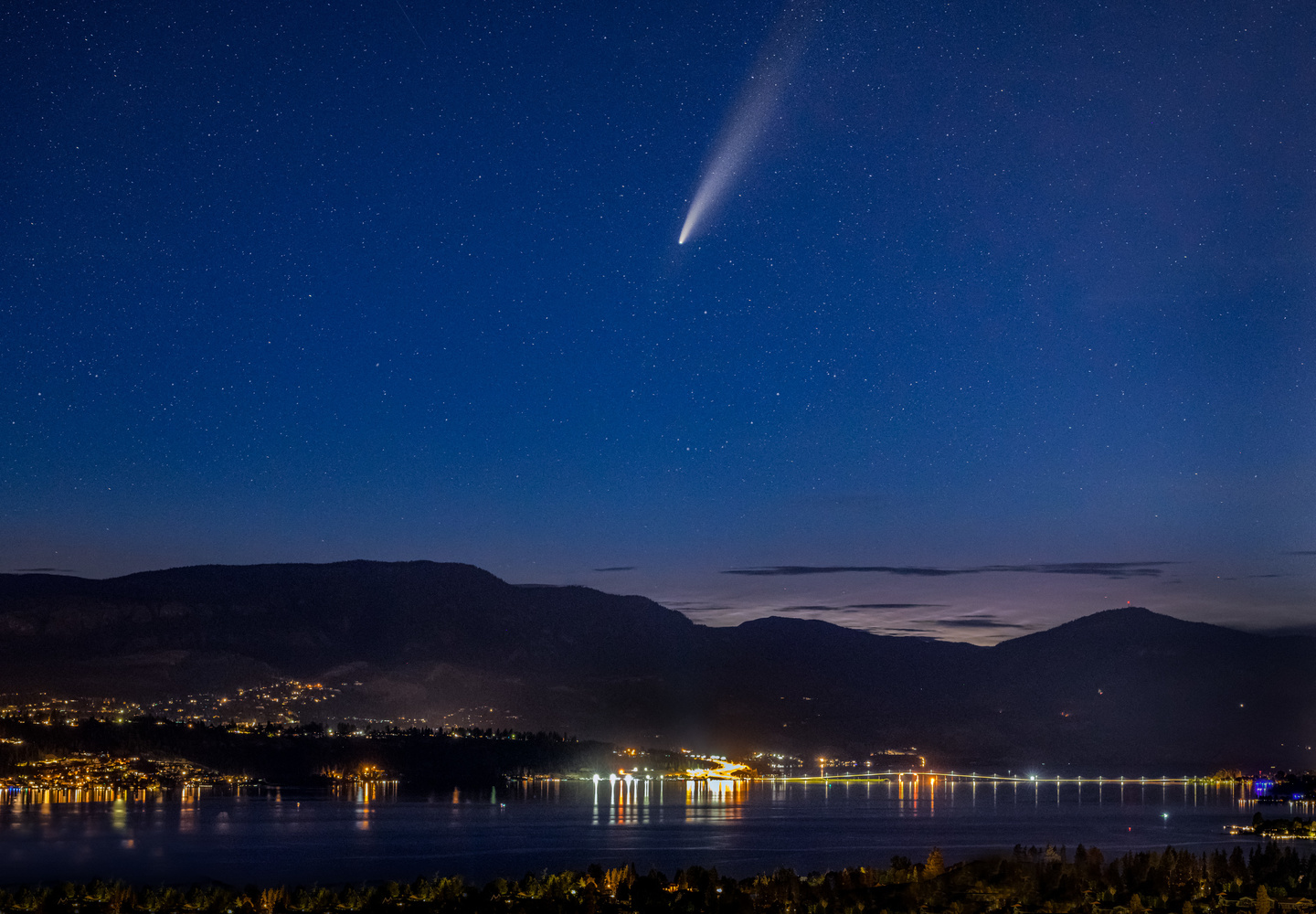 Neowise Over Kelowna by Alex Hill