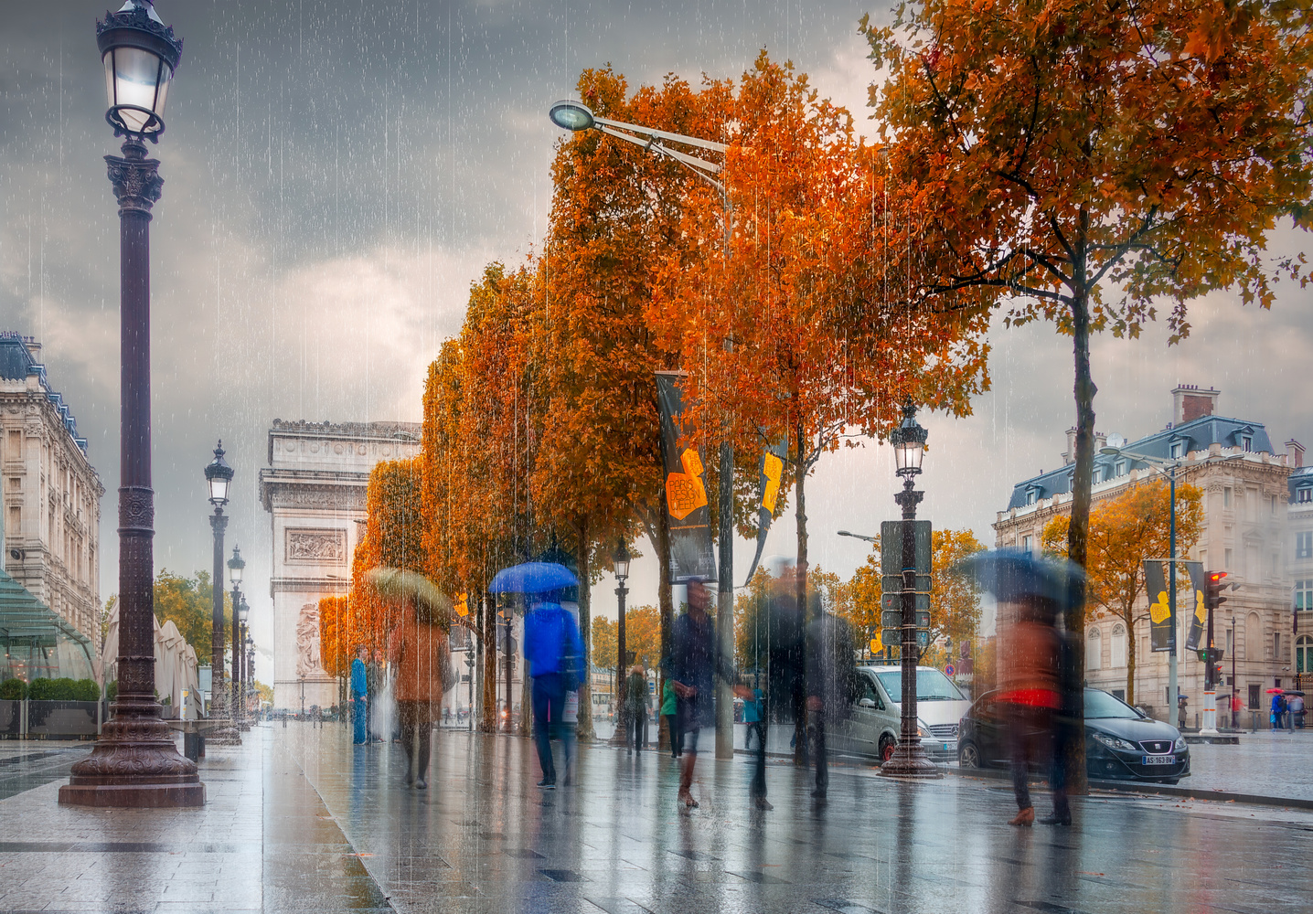 Paris Rain by Alex Hill