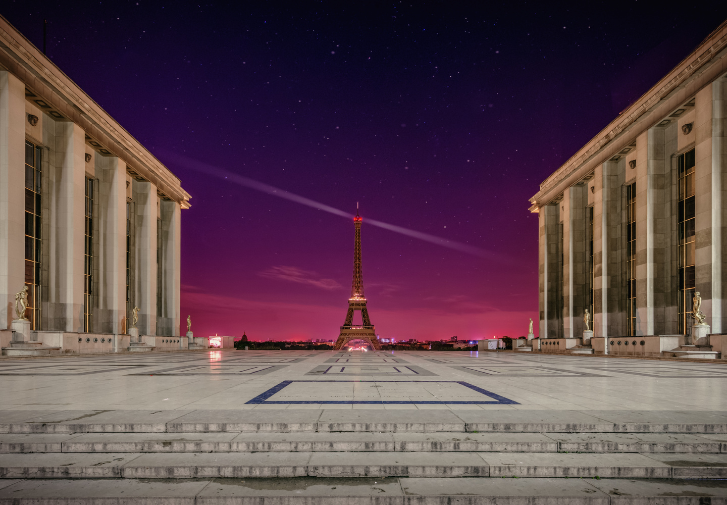 Trocadéro Night by Alex Hill