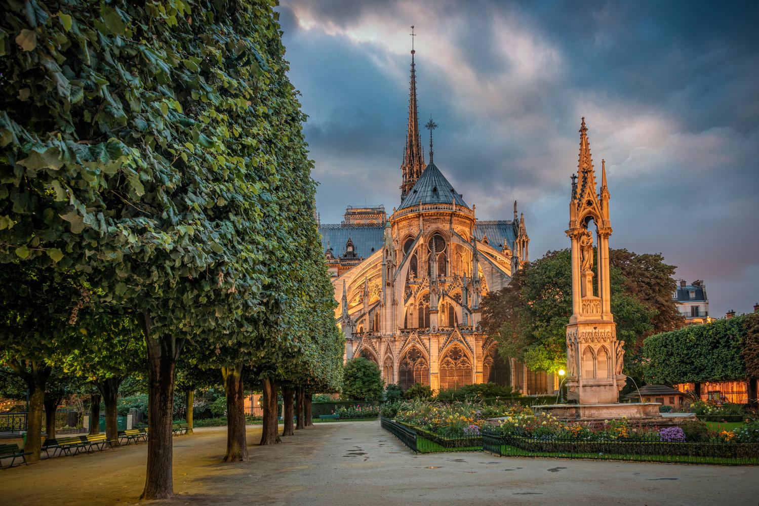 Notre Dame Dusk by Alex Hill