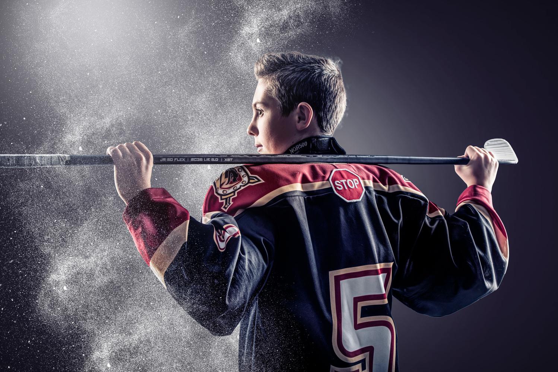 Hockey Portrait by Alex Hill