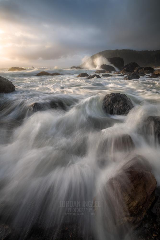 Ecola Sunset on the Oregon Coast by Jordan Inglee