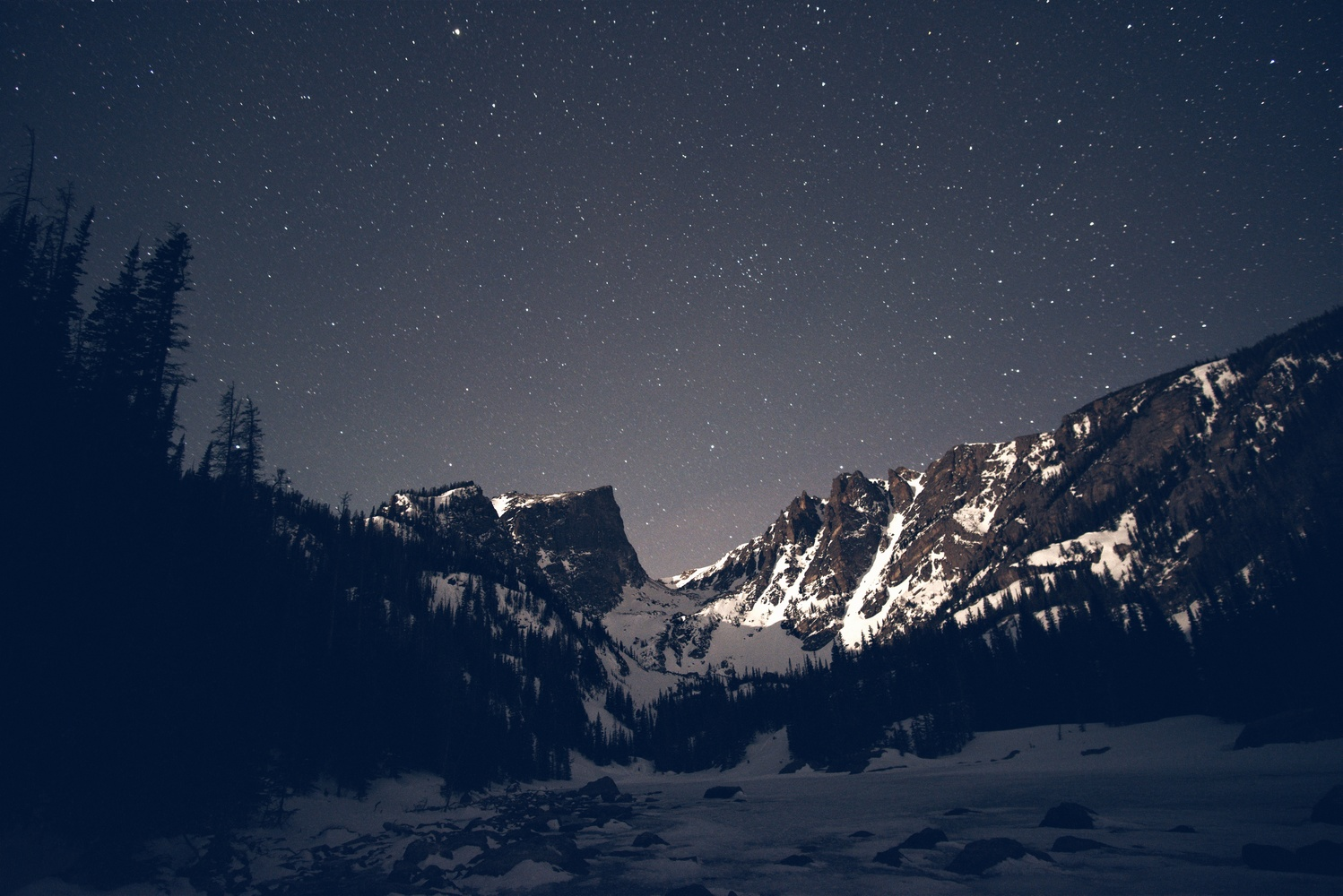 Dream Lake at Night by Will Hoyer