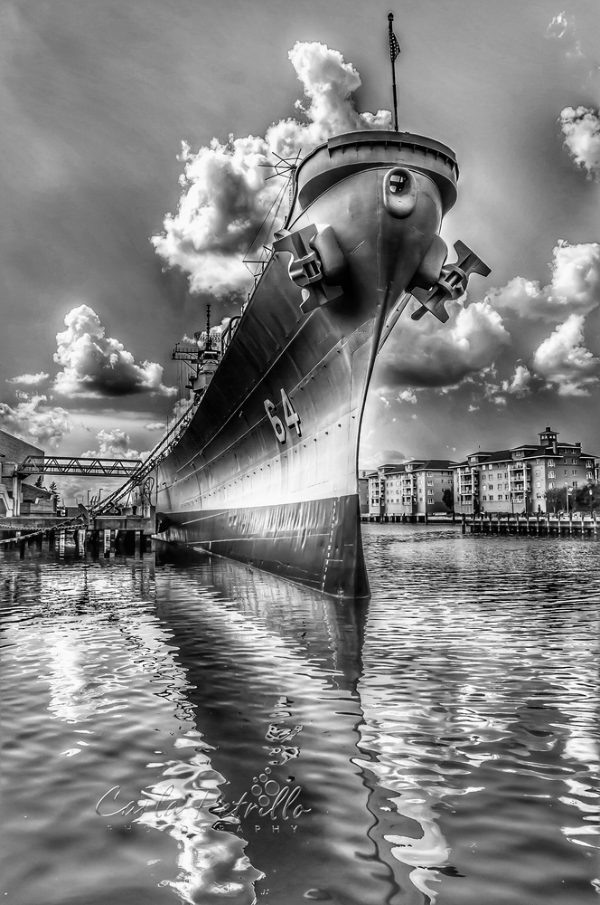USS Wisconsin by Carla Petrillo