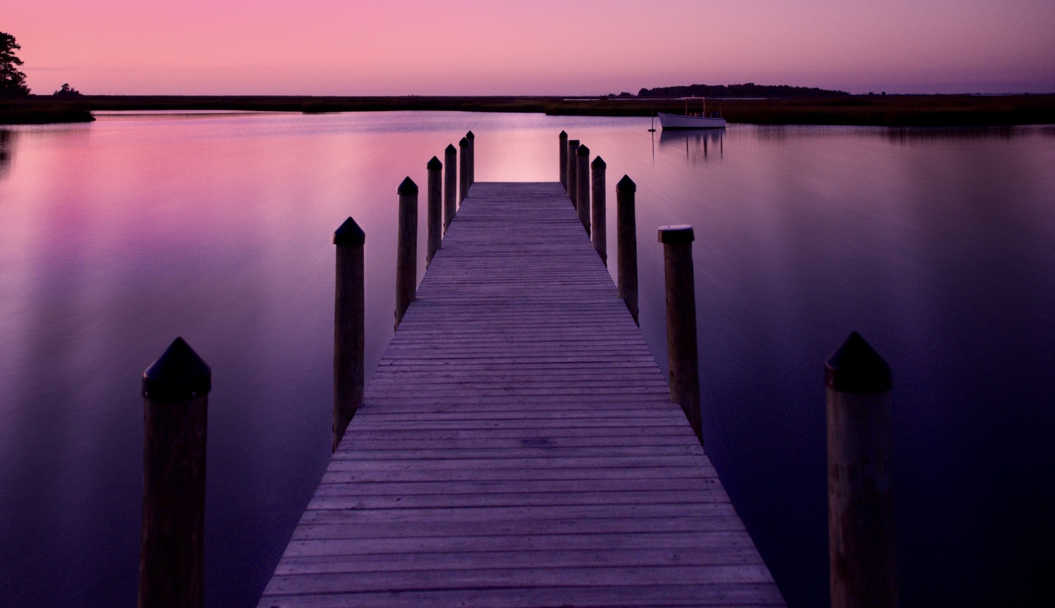 Dock at dusk by Carla Petrillo
