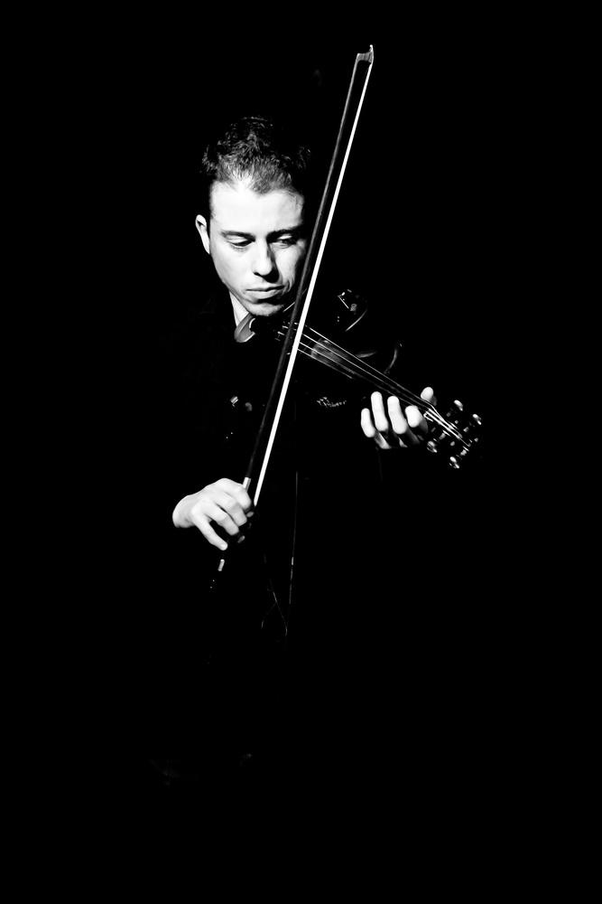 Violin from the dark by Krzysztof Bober