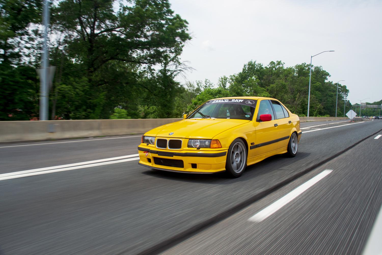 yellow e36 by MATTHEW RUSSELL