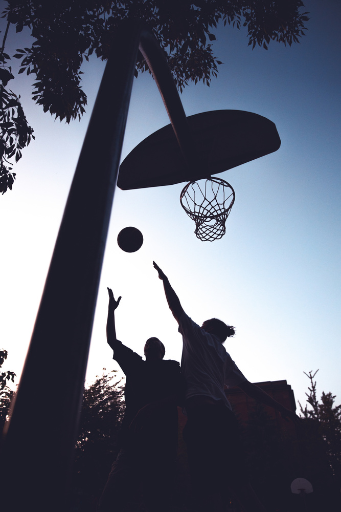 Pickup Game at golden hour by Andreas Korfmann