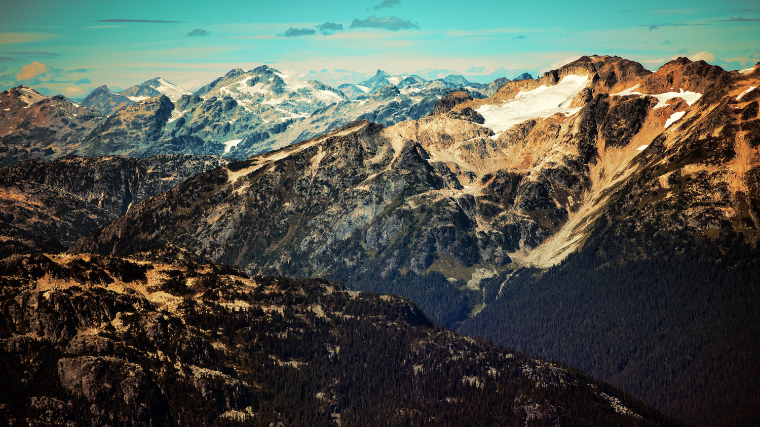 Looking into the distance from the Whistler Summit by Andreas Korfmann