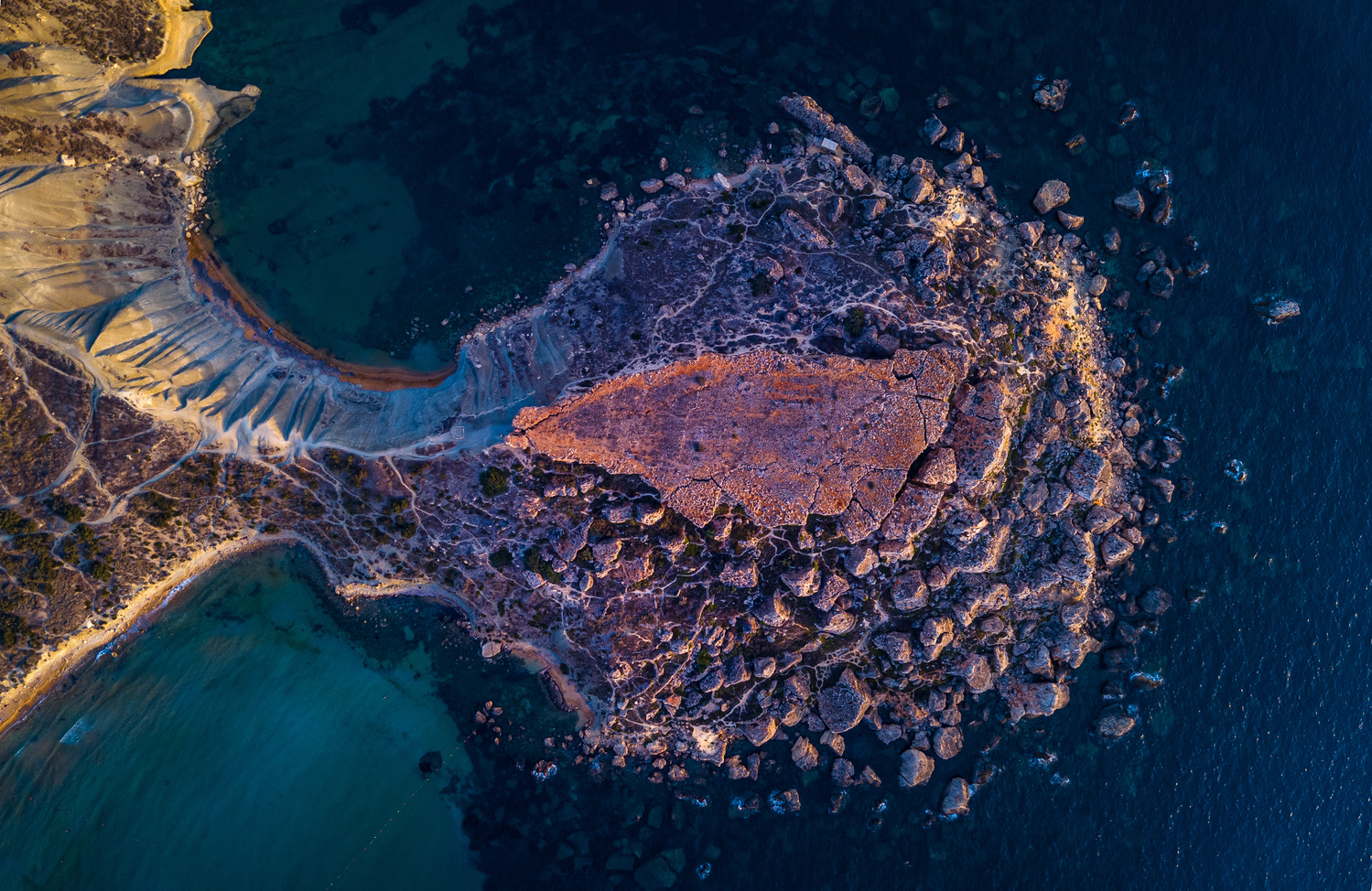 Rocky Peninsula by Mykhailo Nahlii