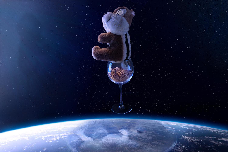 A chipmunk in space by Yossi Schori