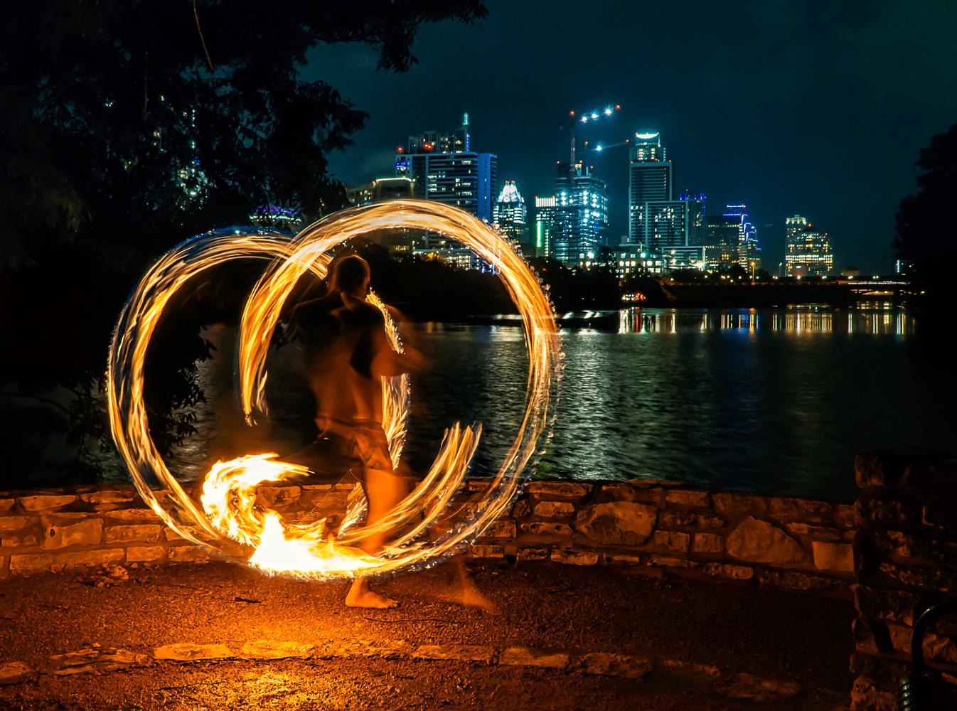 Fire Dance Austin by Eric Wilson