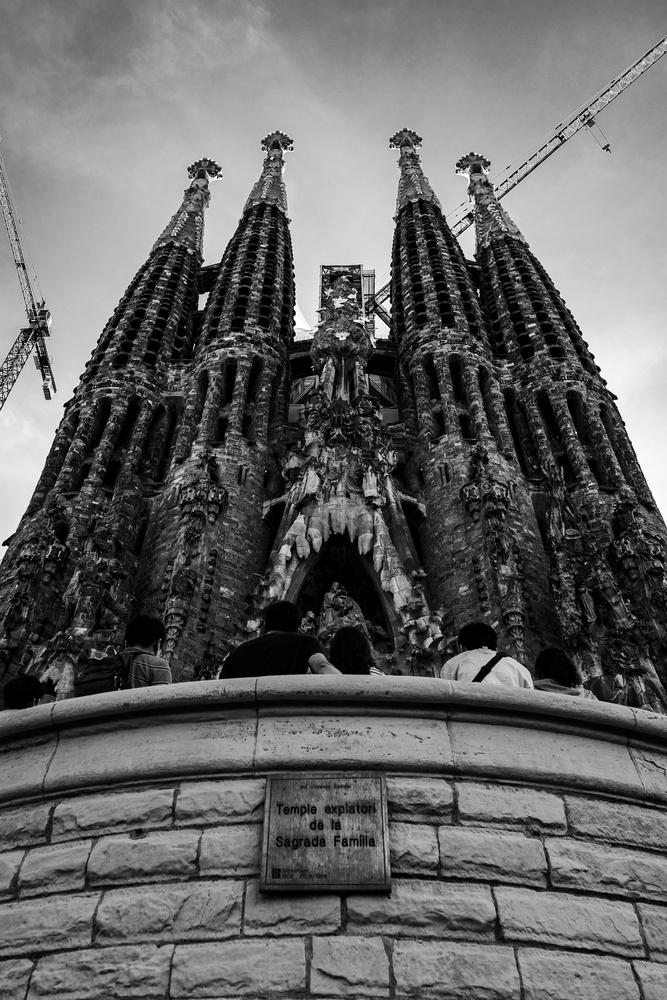 La Sagrada Familia in Barcelona by Andres Pena