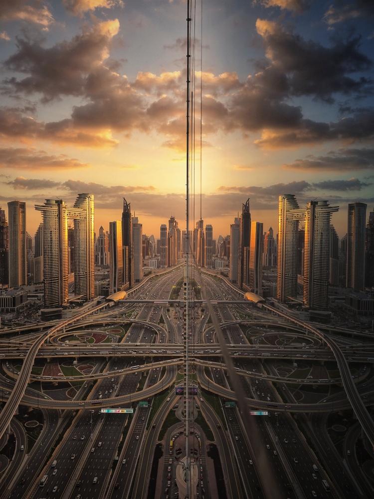 City reflection by Rolando Batacan