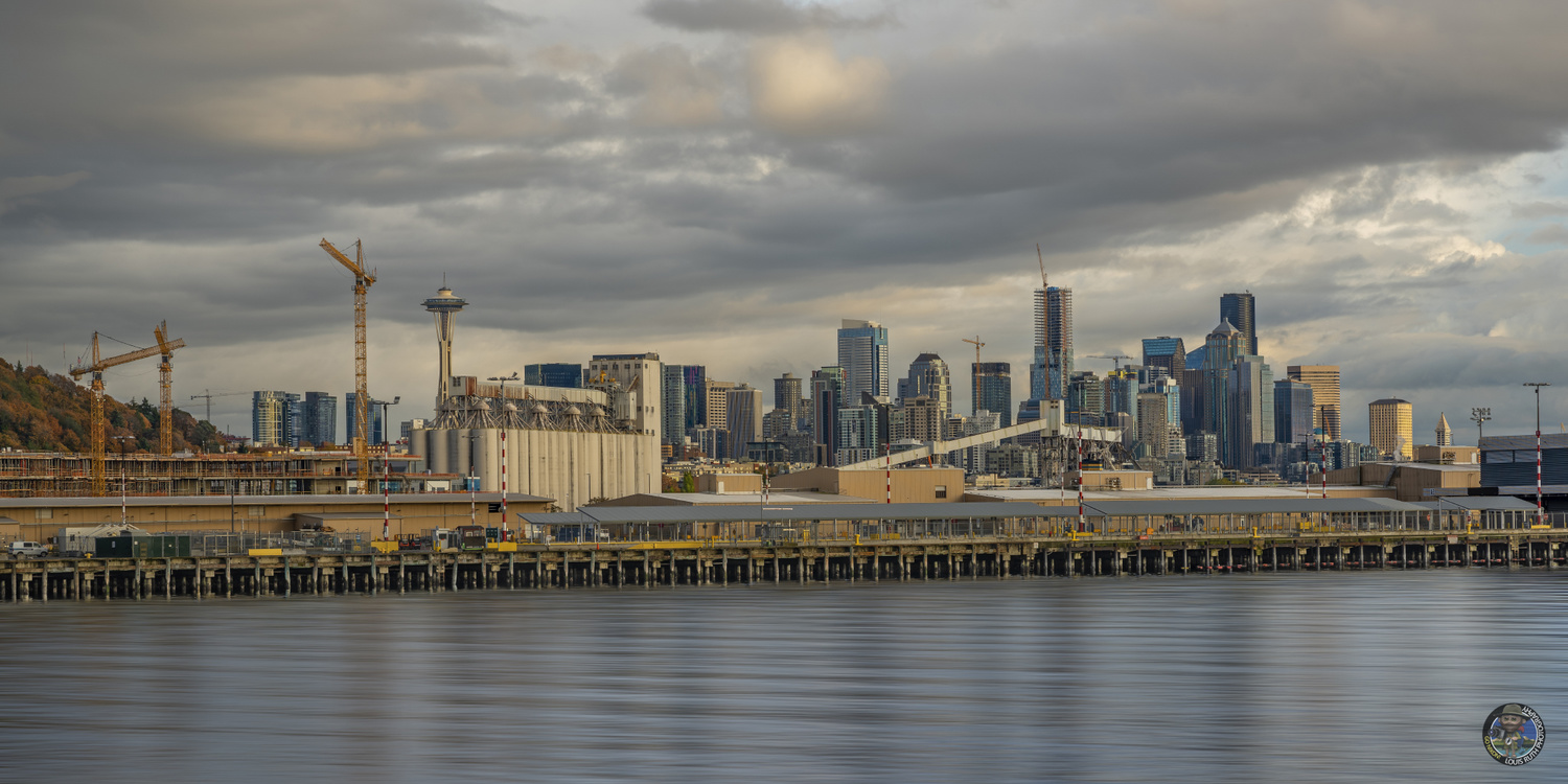 Piers, buildings and a bit of grit Seattle 2019 by Louis ruth