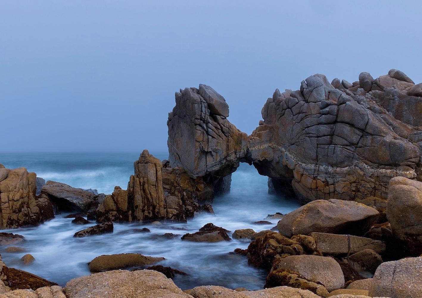 The Kissing Rock - Monterey, CA by Jonathan Monroe
