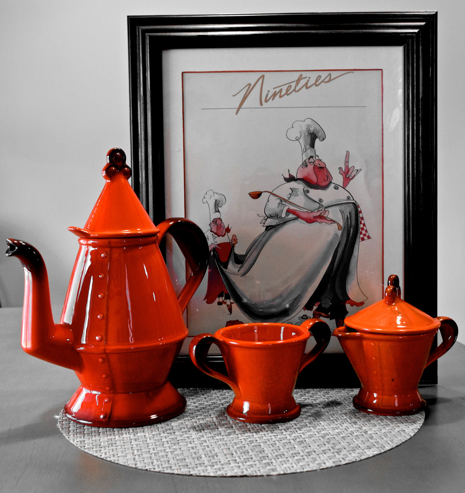 Red Coffee set by Greg Gero