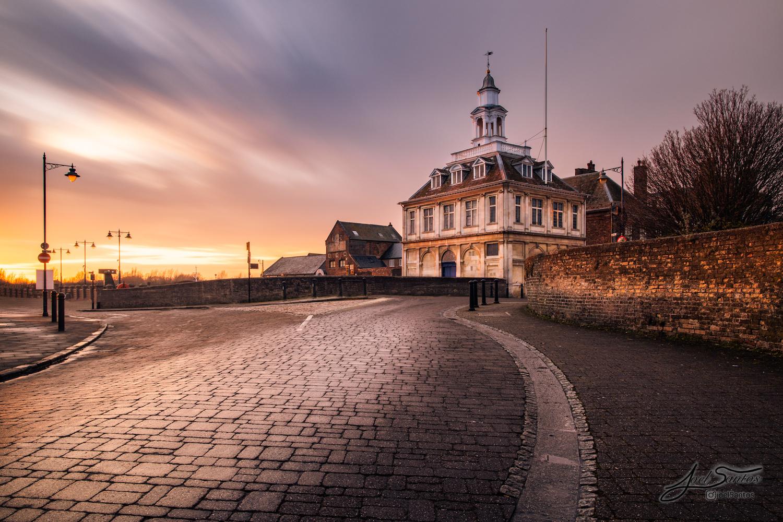 Kings Lynn Custom House at sunset by Joel Santos