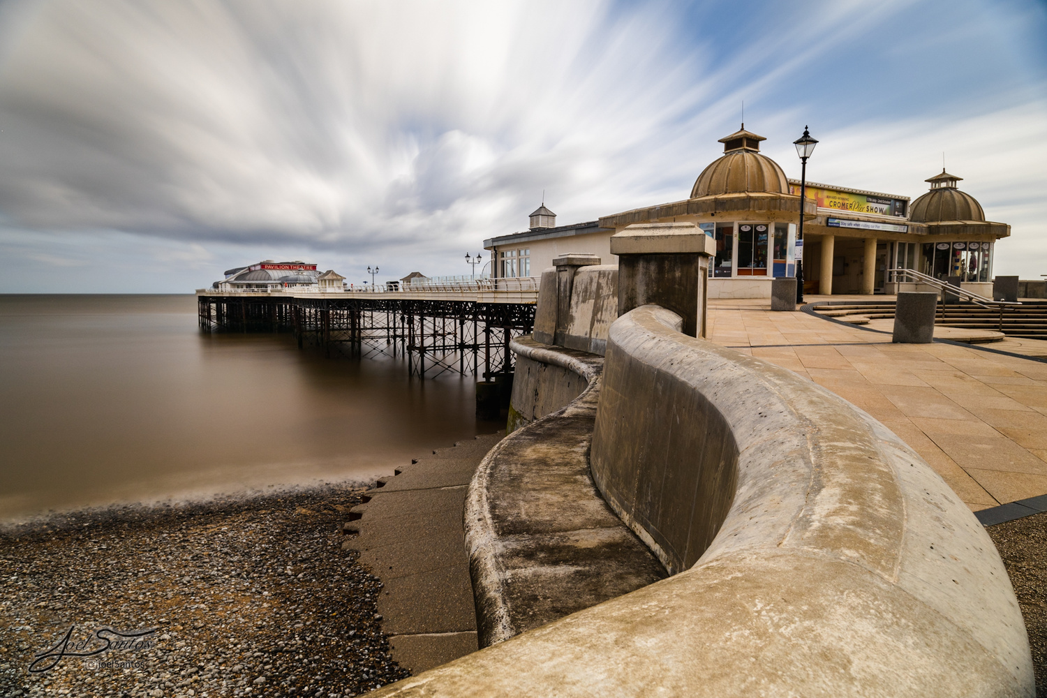 Windy morning at the pier by Joel Santos