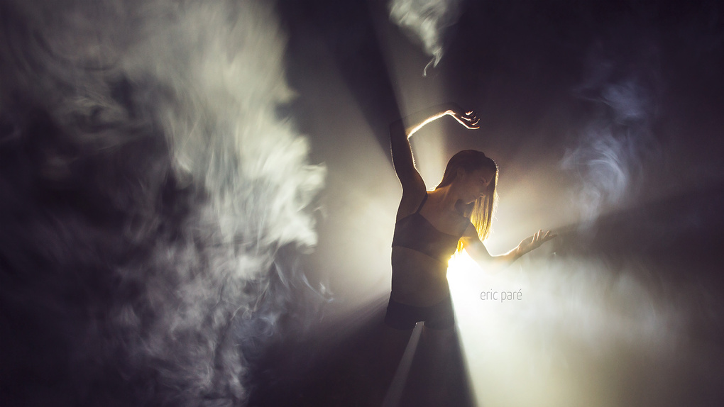 Back light-painting with Lindsay Culbert-Olds by Eric Pare