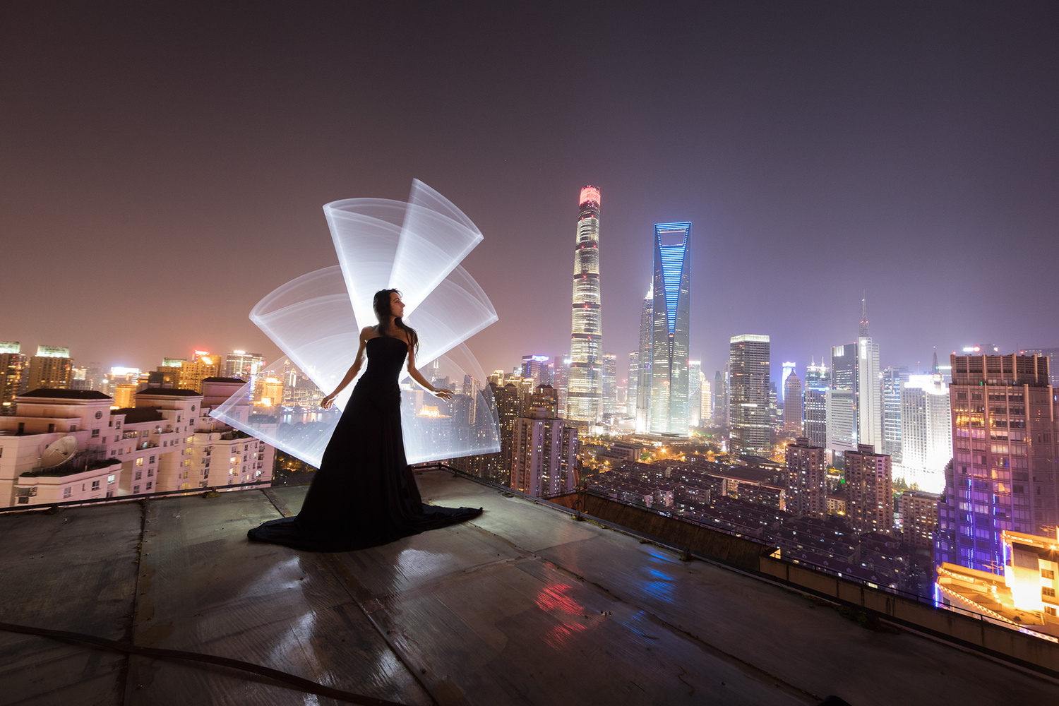 Shanghai light-painting by Eric Pare