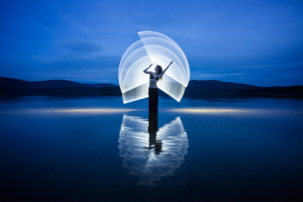 Light-painting at Mont-Tremblant National Park by Eric Pare