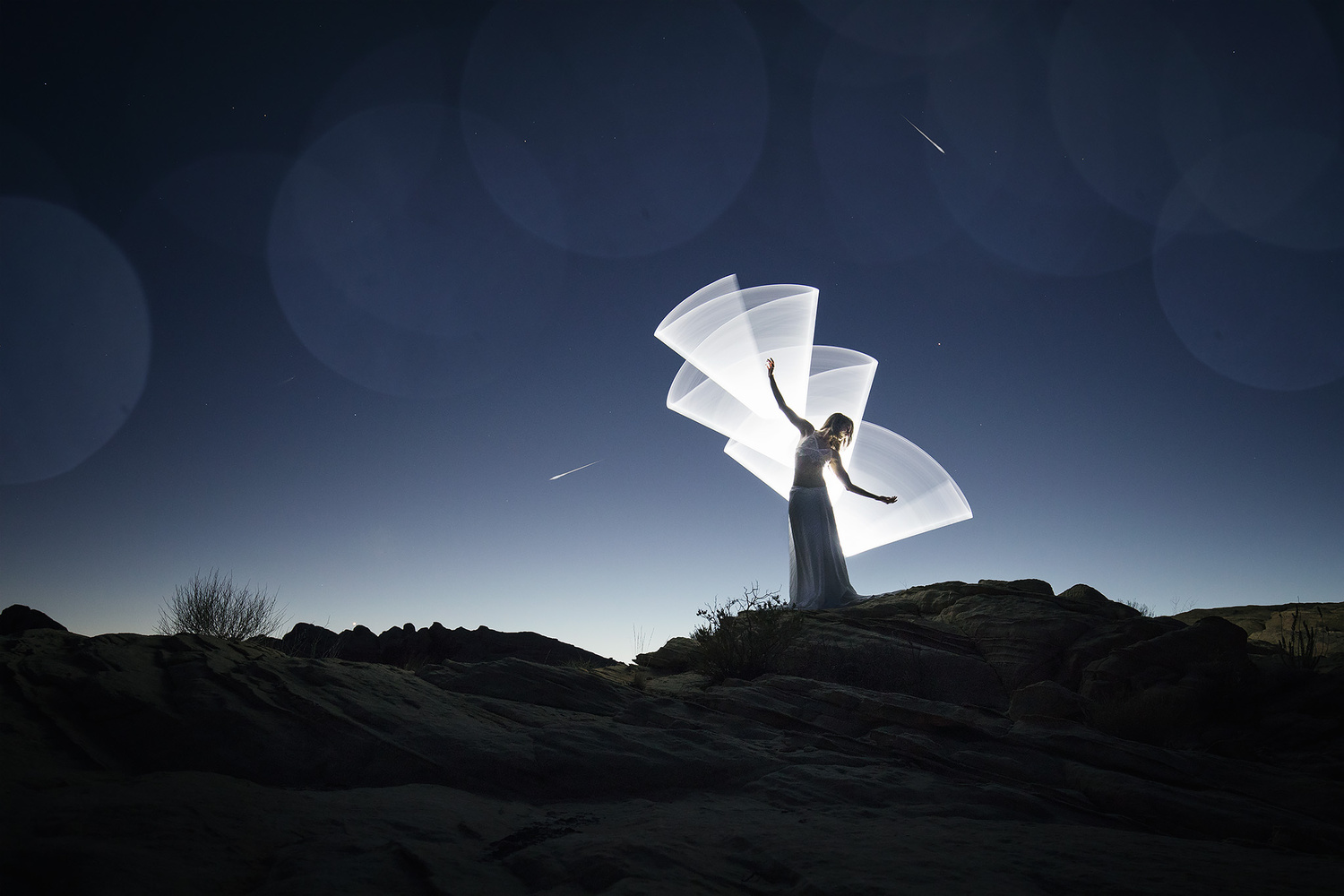 Light-painting fantasies by Eric Pare
