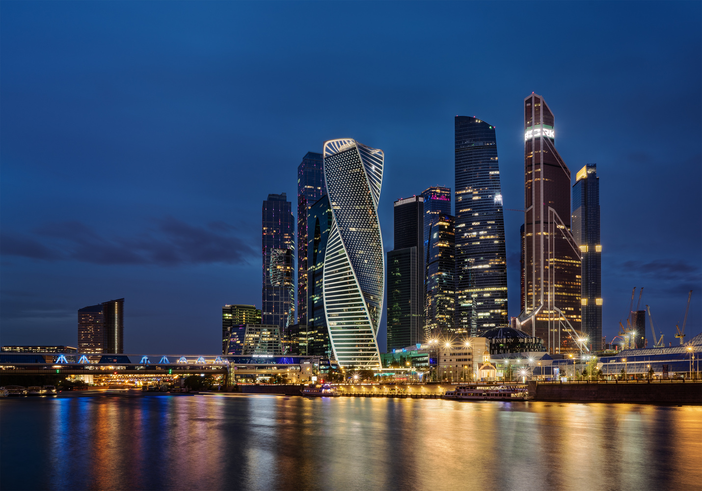 Moscow City Blue Hour 01 by Gleb Karpetkin