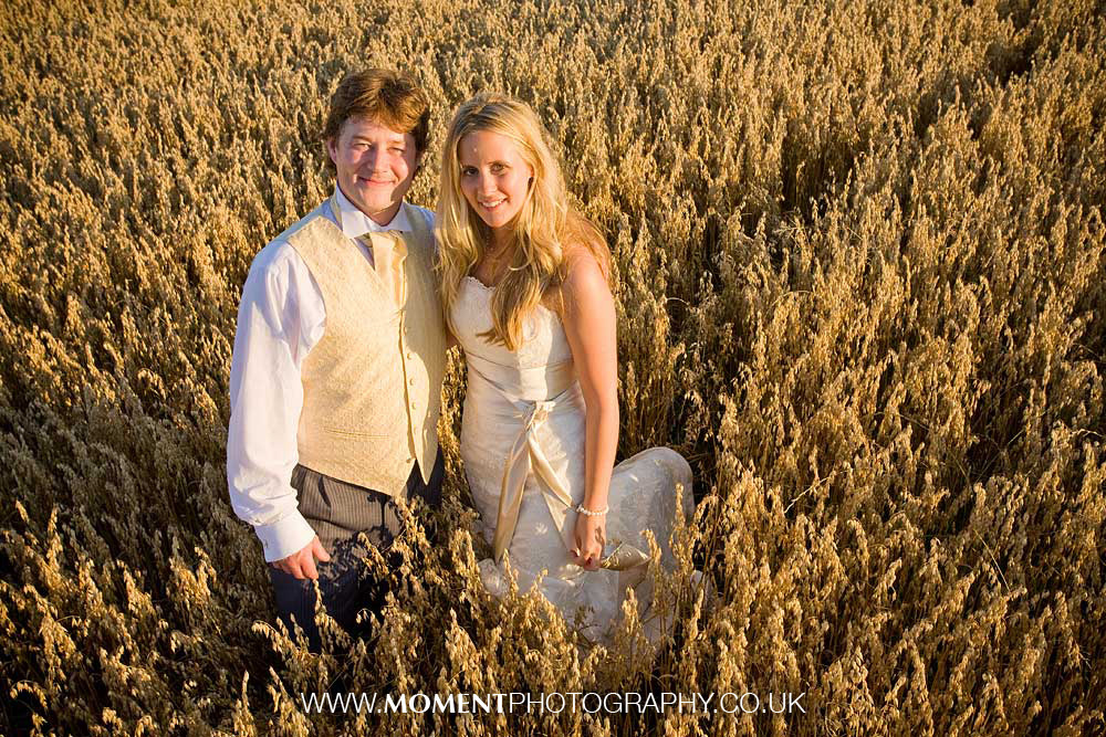 Somerset corn field married couple by Ross Alexander