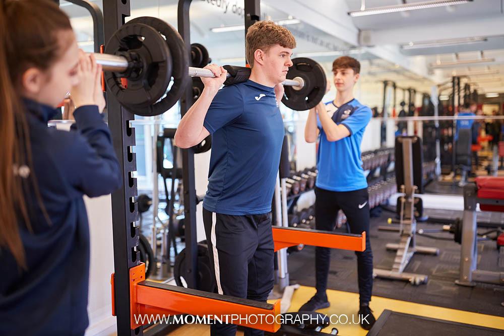 Bridgwater & Taunton College gym instructors by Ross Alexander