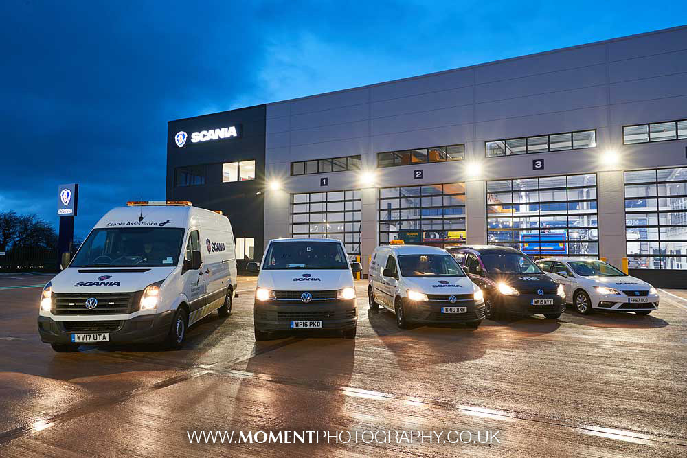 Scania Bridgwater service centre at night by Ross Alexander