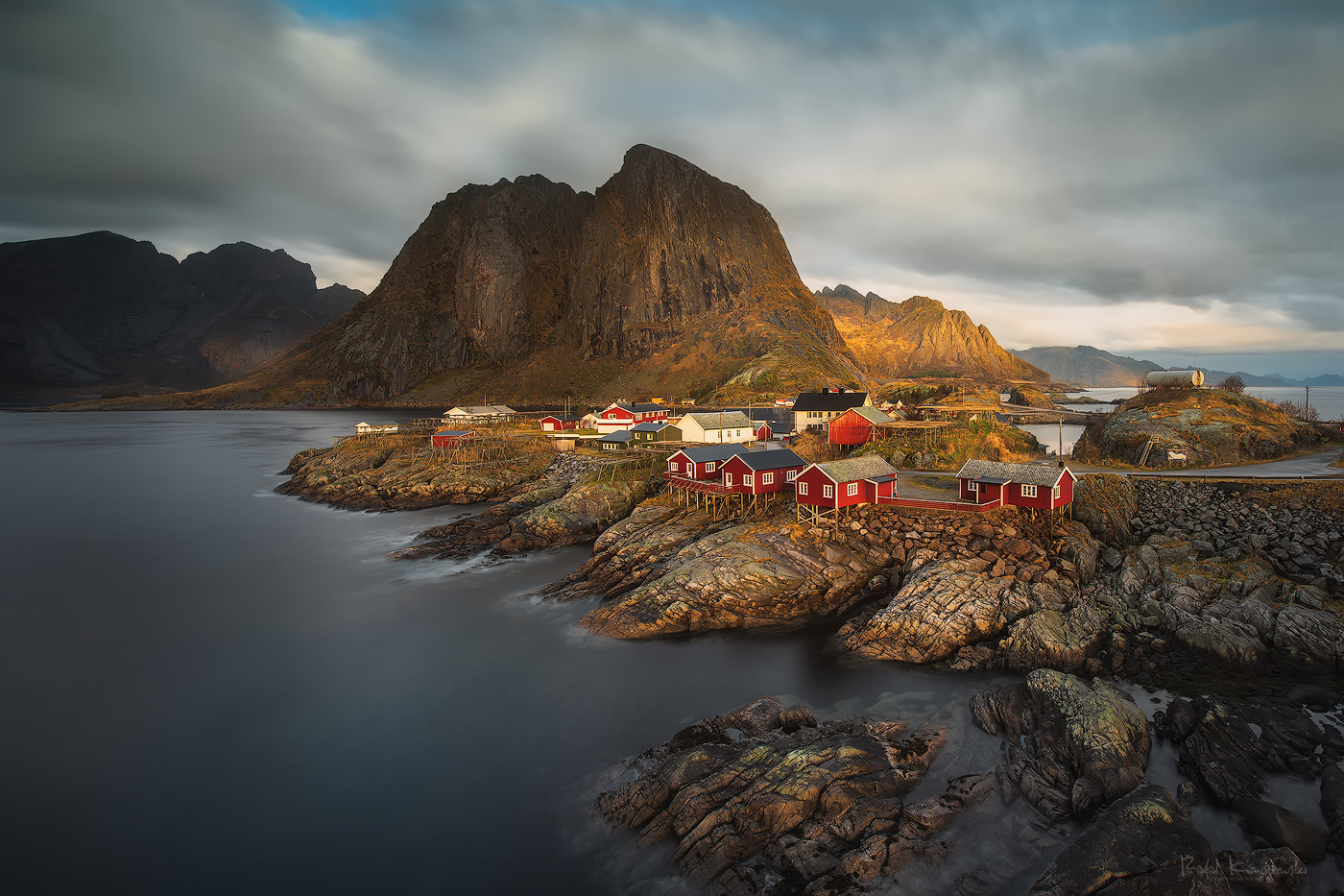 Red houses in Hamnoy by Rafal Kani