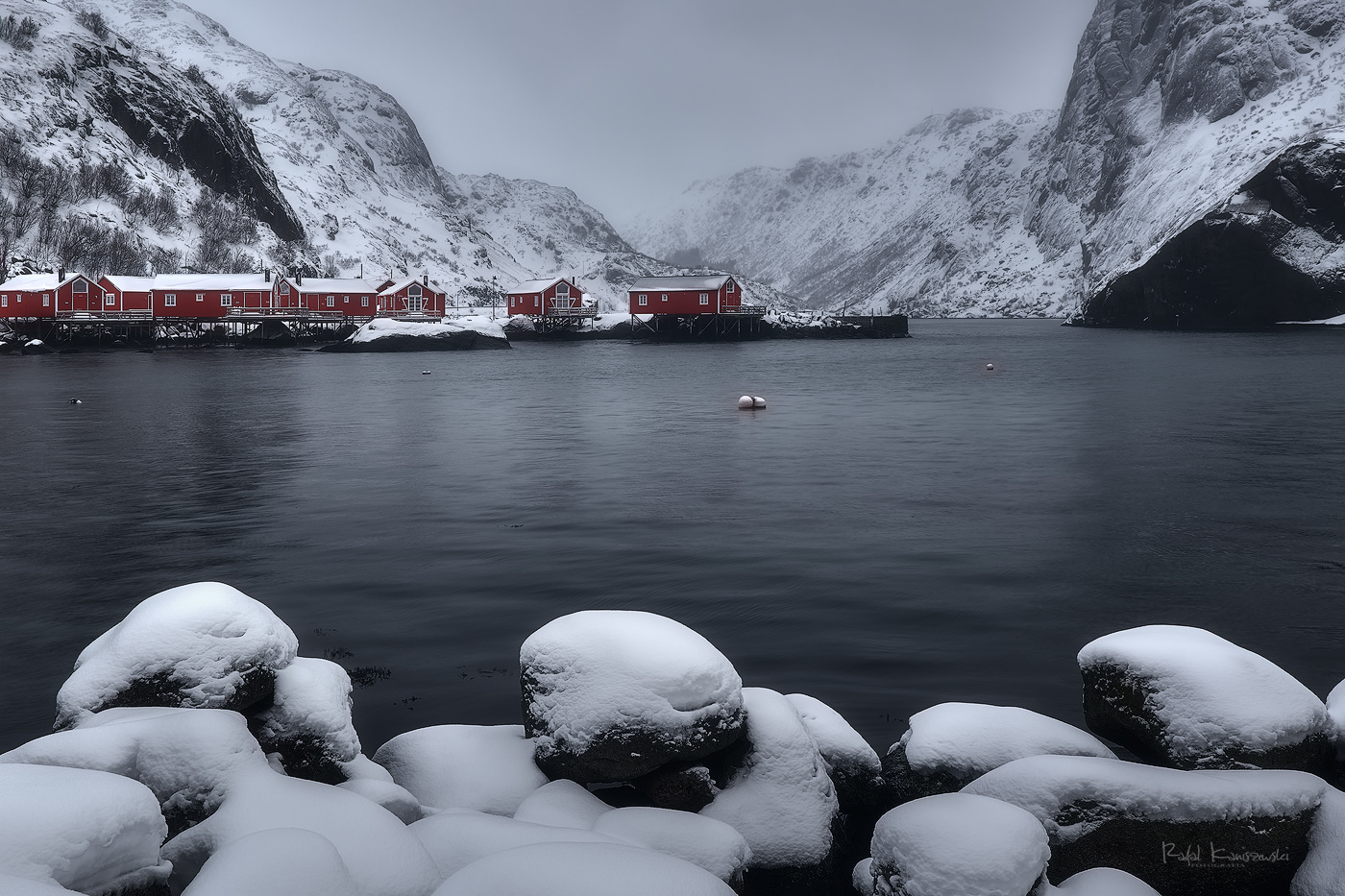 Red houses by Rafal Kani