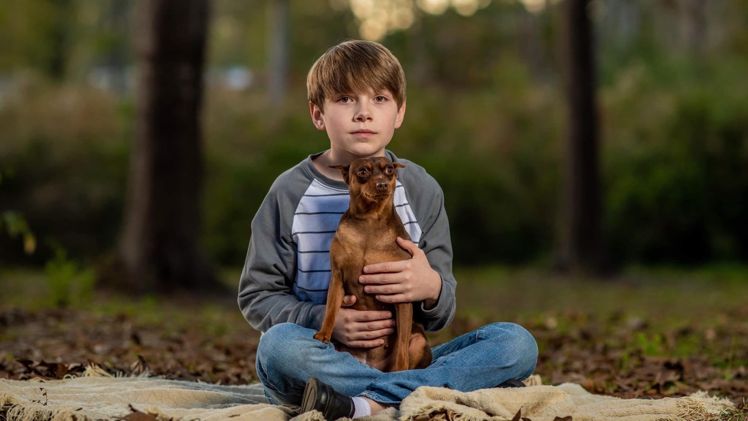Noah and his dog by Steve Ross