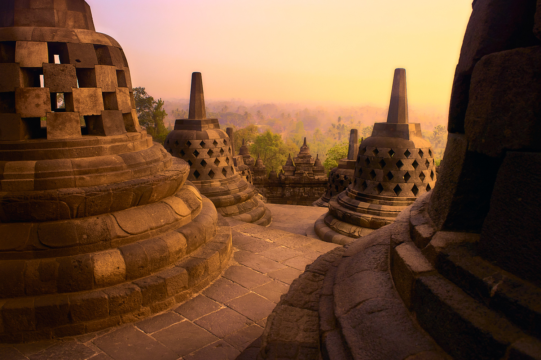 Borobudur Sunrise by Jon Zumalabe