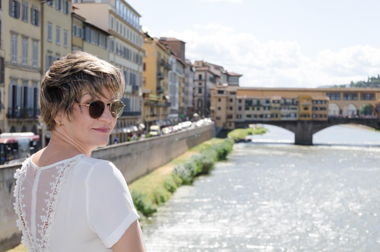 Liz e a Ponte Vecchio by Murilo Britto