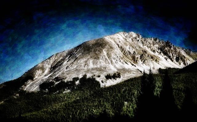Mountain Contrast by Mark Mathews