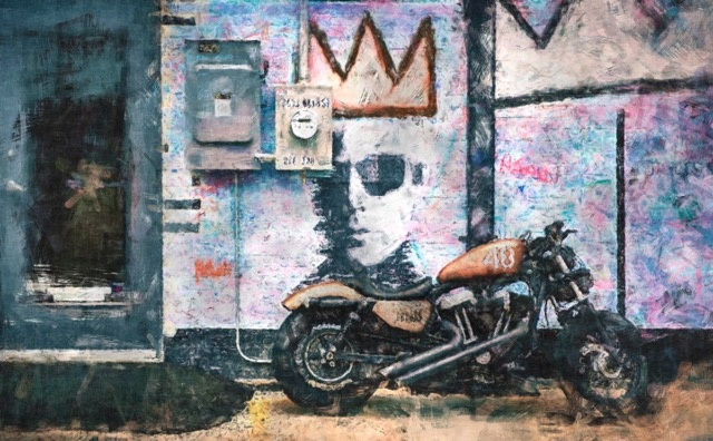 Biker Mural by Mark Mathews