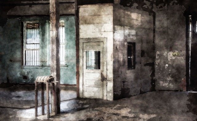Warehouse Painting by Mark Mathews