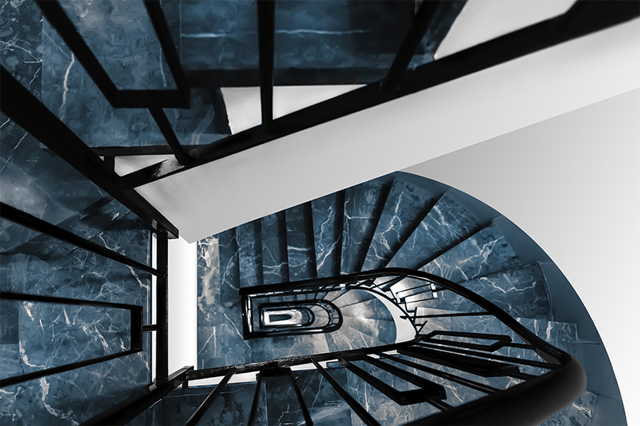 spiral stairs by Hanaa Turkistani