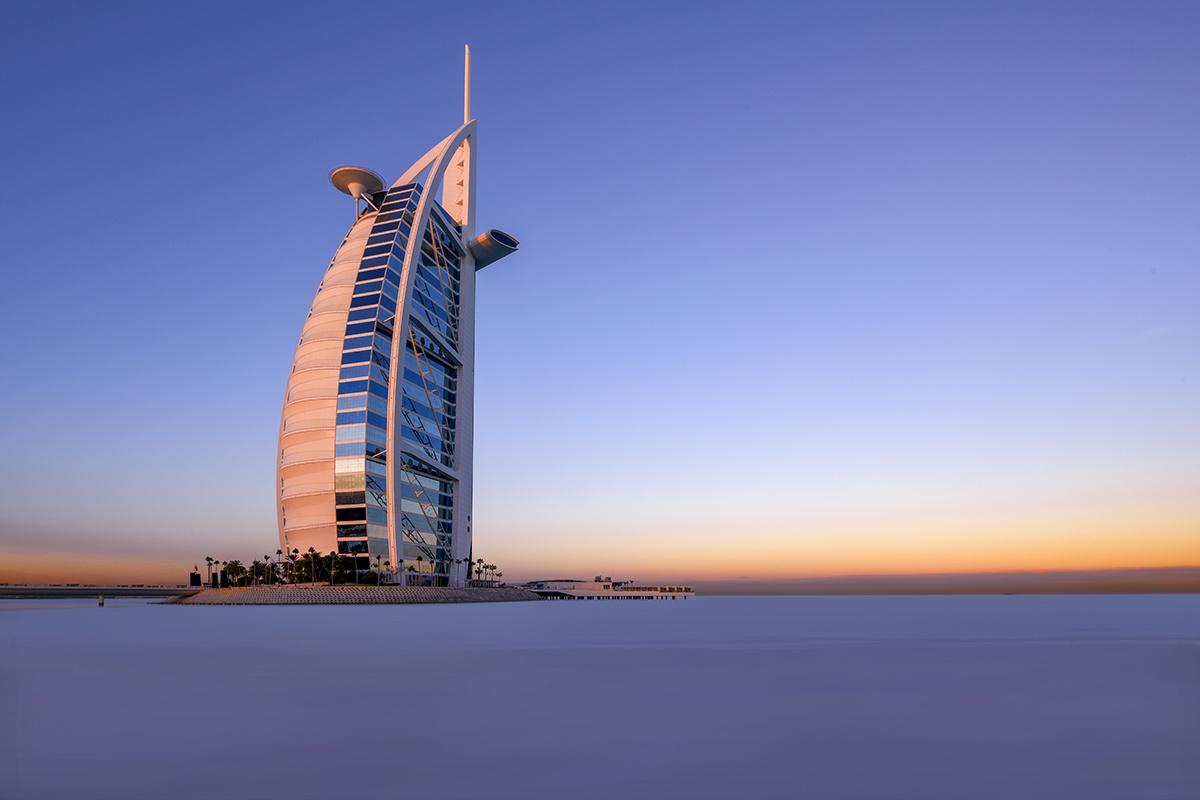 Burj Al Arab at Sunrise by Hanaa Turkistani