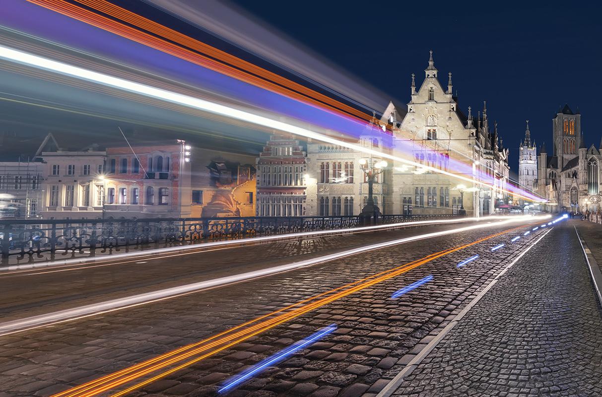 St Michiels bridge Ghent by Hanaa Turkistani