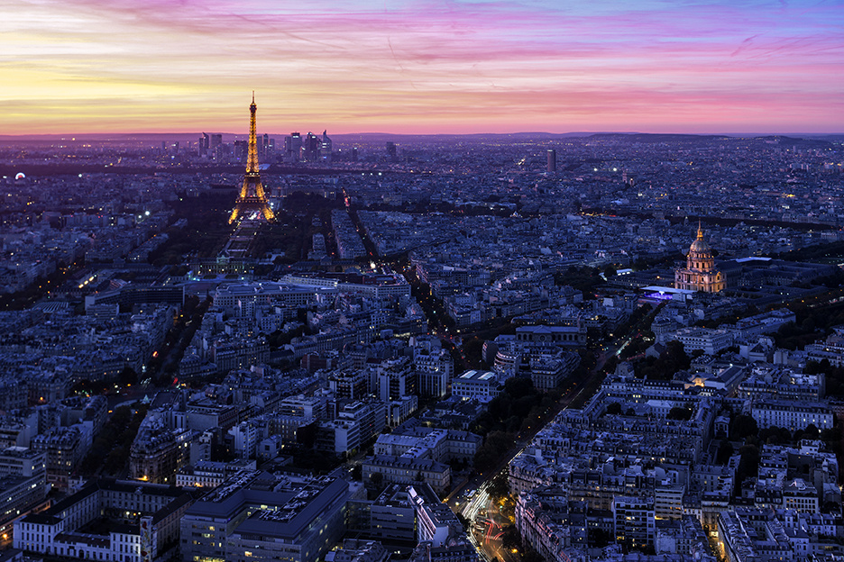 Enjoy the scene of Paris and shot from above Montparnasse Tower - pay ticket .. there are small hole open windows u can only shot through .. lots of ppl u need to avoid moving ur tripod ,, be respectful and kind by Hanaa Turkistani